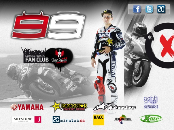 Lorenzo dengan seluruh sponsor pribadi