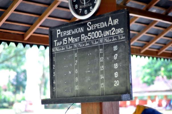 Tarif Sepeda Air yg terjangkau
