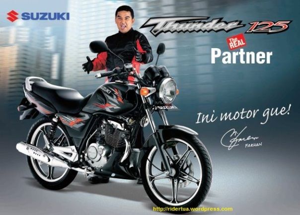 Farhan Brand Ambassador Suzuki Thunder 125