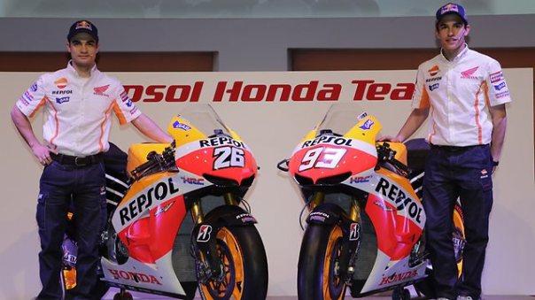 Pedrosa and Marquez