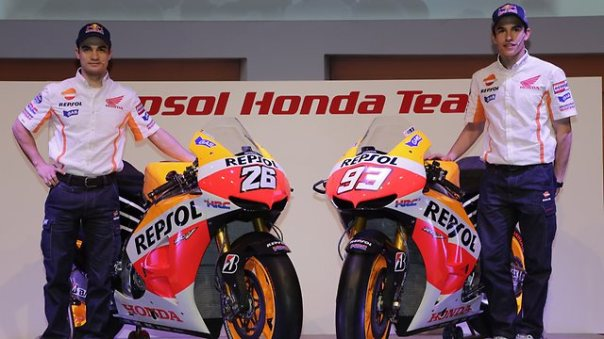 Pedrosa and Marquez