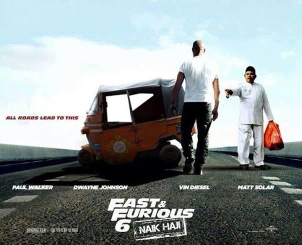 Vin Diesel as Toretto berjalan ke arah Bajaj Bajuri :D