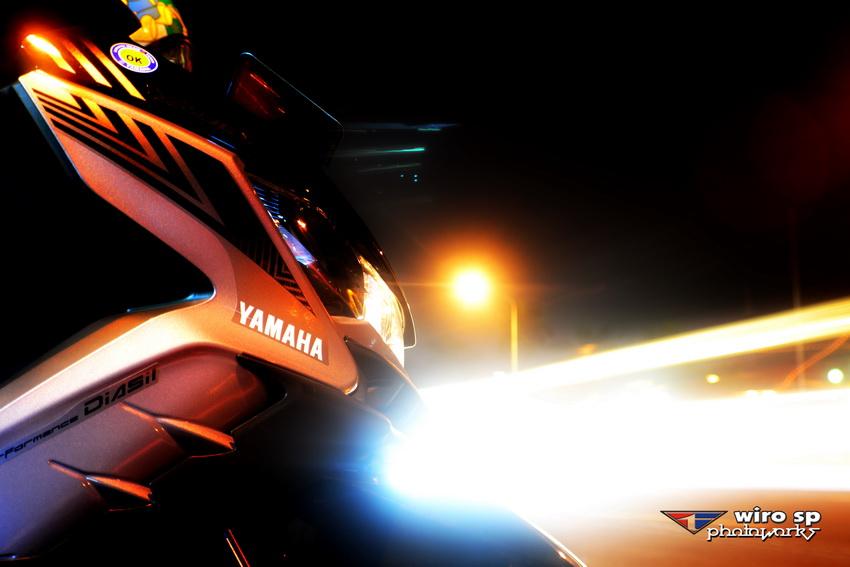 Yamaha GT125 saat Istirahat City Riding Malem