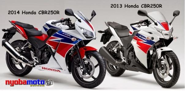 Honda CBR250r 2014 vs 2012