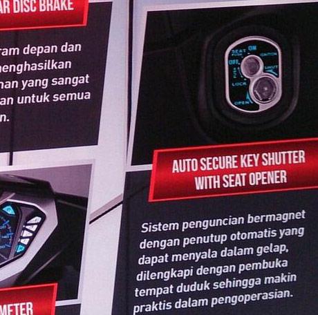 Honda Supra X 125 FI 2014_Auto Secure Key Shutter