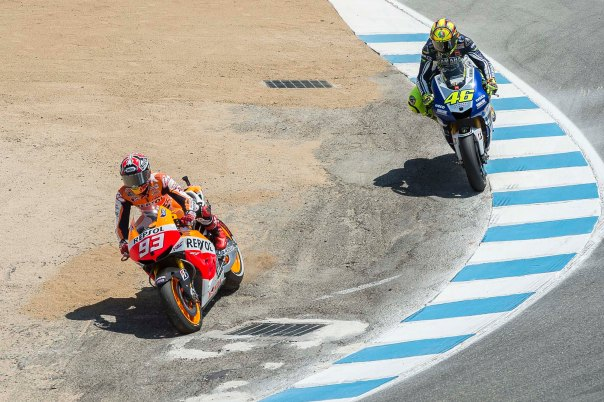 Marquez Overtake Rossi di Crock Screw