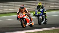 RC213V Marquez didepan M1 Rossi