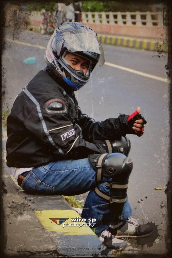 Wiro wearing Safety Gear