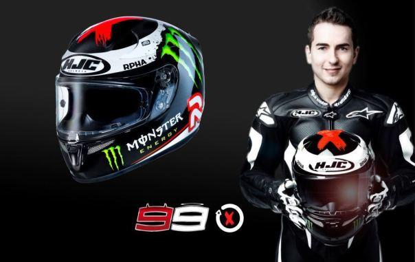 Jorge Lorenzo dan Helm HJC