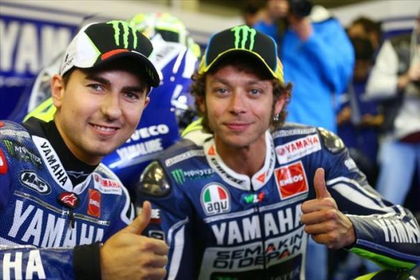 Jorge Lorenzo dan Valentino Rossi