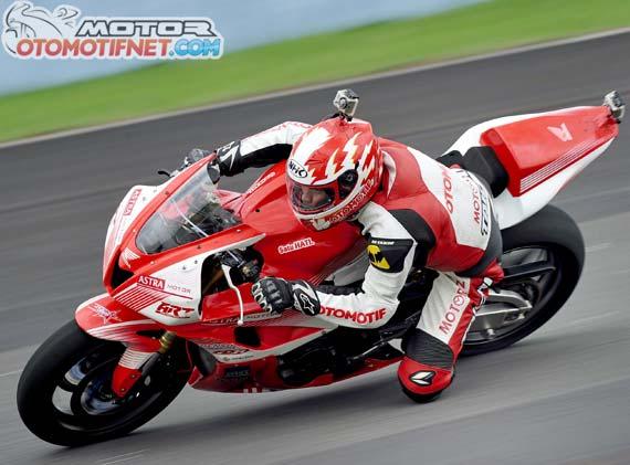 Honda CBR 600RR di tes di Sentul