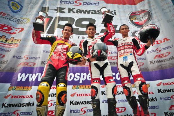 Podium Kejurnas 250cc tahun lalu 2014, belum tentu seperti ini dengan kehadiran Ninja Mono