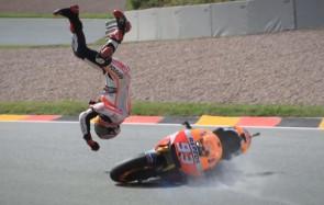 Marc Marquez saat melayang
