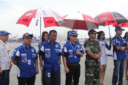 Management Yamaha Indonesia di opening seri 4 Yamaha Cup Race di Medan