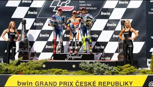 Pedrosa Podium di Brno Rep Ceko 2014