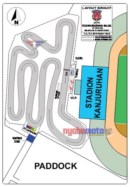 Ini Layout Sirkuit Untuk HRC Seri ke-7 di Halaman Luar Stadion Kanjuruhan