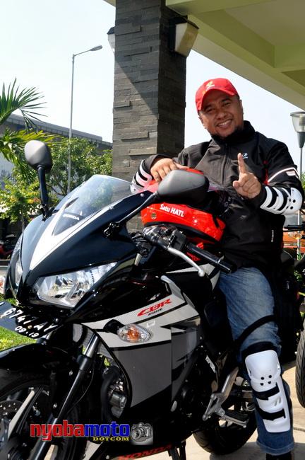 nyobamoto.com Pertama Turing dengan Honda CBR150R Dual Keen Eyes