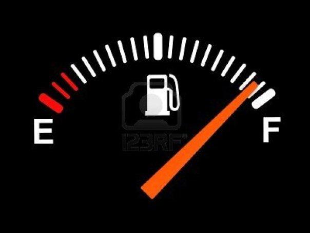 Kalau fuelmeter kondisi seperti ini kan senang :)