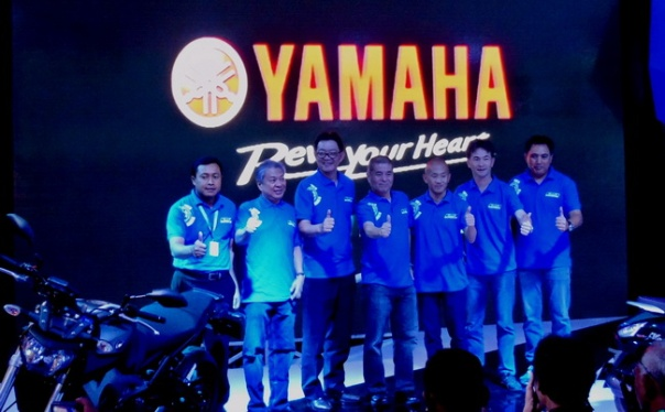 Manajemen PT Yamaha Indonesia Motor Manufacturing saat press conference di Indonesia Motorcycle Show