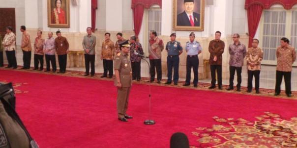 Pelantikan Jaksa Agung HM Prasetyo