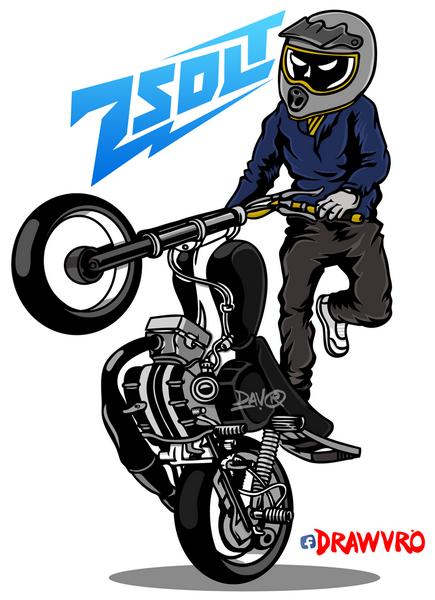 Cartoon Stunt Rider