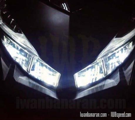 Headlamp Vario 150 cc saat menyala