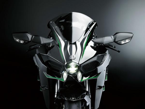 Kawasaki Ninja H2R Dari Depan