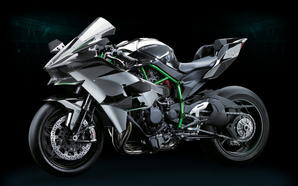 Kawasaki Ninja H2R Samping Depan