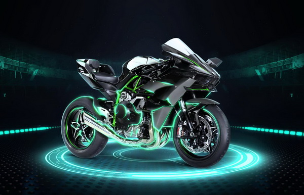 Kawasaki Ninja H2R Samping DepanKanan