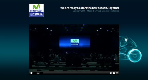 Saat mulai press conf launching Movistar Yamaha