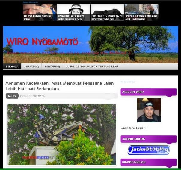 Wajah blog saat 2014