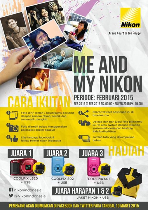 """Poster Lomba """" Me and My Nikon """""""