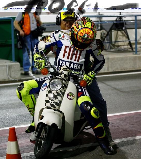 Rossi kehabisan bahan bakar dijemput marshal
