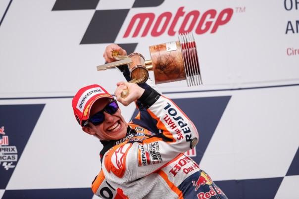 Marc Marquez saat juara di Austin 2015