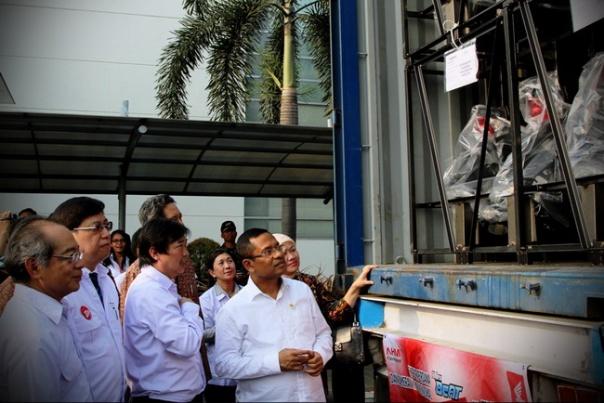 AHM_ Ekspor Beat ke Philipina disaksikan Men Perin Saleh Husin