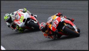 Marc Marquez versus Iannone di Le Mans 2015_3