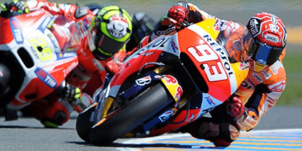 Marquez setelah overtake Iannone