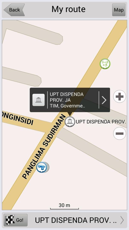 Destinasi yang dituju Jl. Panglima Sudirman Pasuruan