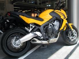 Honda CB650F Yellow
