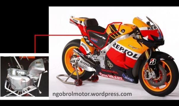 Tangki bbm Honda motoGP
