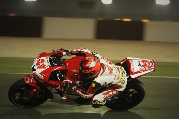 Yogha Dio Syachputra beraksi pada ajang balap Asia Road Racing Championship (ARRC) seri Qatar