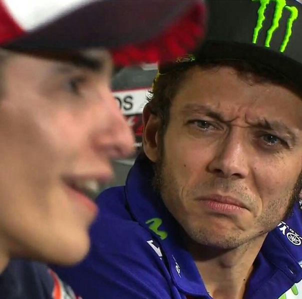 Wajah tak sedap Rossi