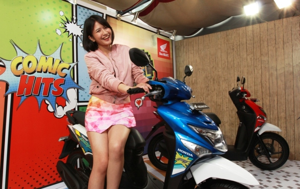 Saat launching New Honda Beat Pop eSP_Comic Hits