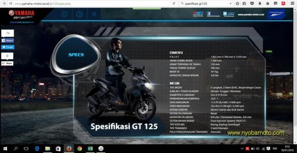 Spesifikasi Yamaha GT 125 Eagle Eye
