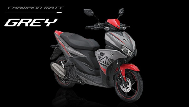 Yamaha Aerox 125 Abu-abu Merah