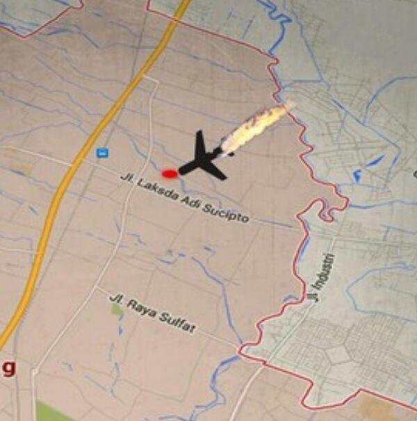 Lokasi Pesawat Jatuh