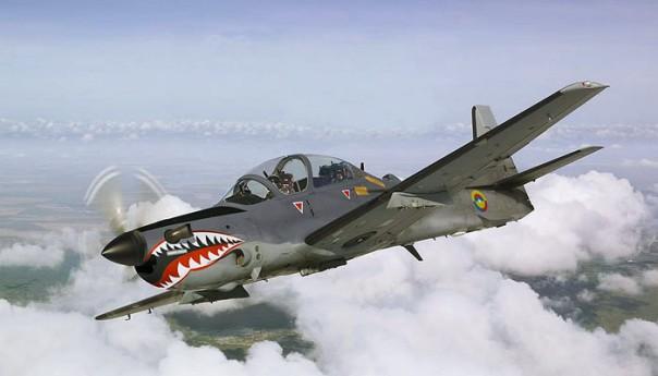 Super Tucano - Pesawat Latih jenis ini yang terjatuh di Blimbing Malang -