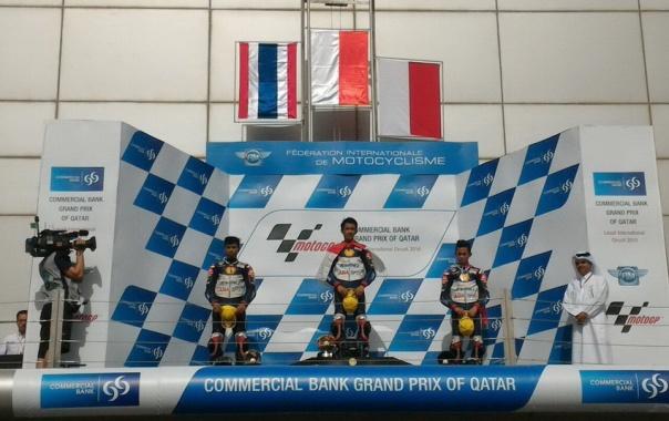 Race 2 ATC di Losail Qatar Posisi 1 : Andi Gilang posisi 3 : Gerry Salim