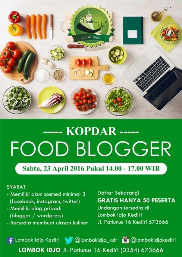 Poster Kopdar Food Blogger