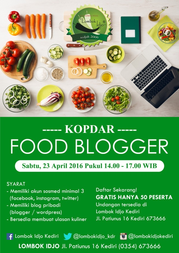 Poster Kopdar Food Blogger